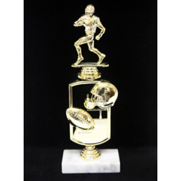 """12"""" Football Trophy with Theme Riser"""